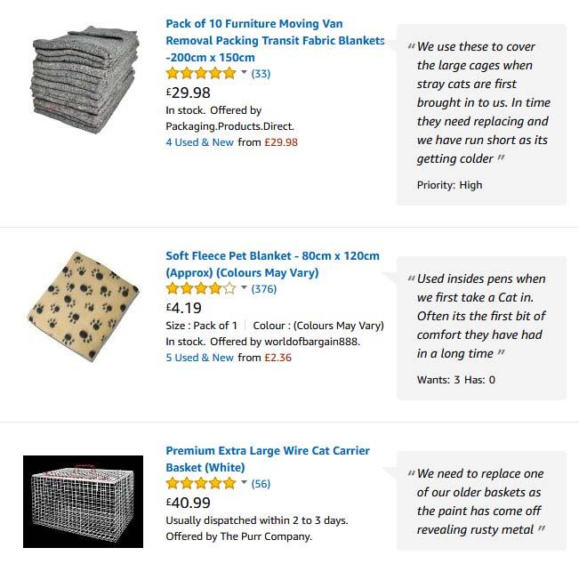 Cat Call Amazon Wish List