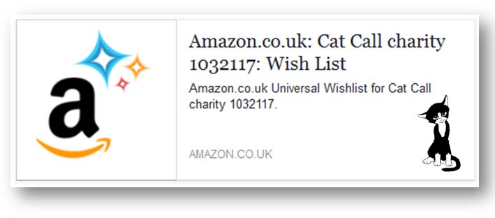 Cat Call charity wish list