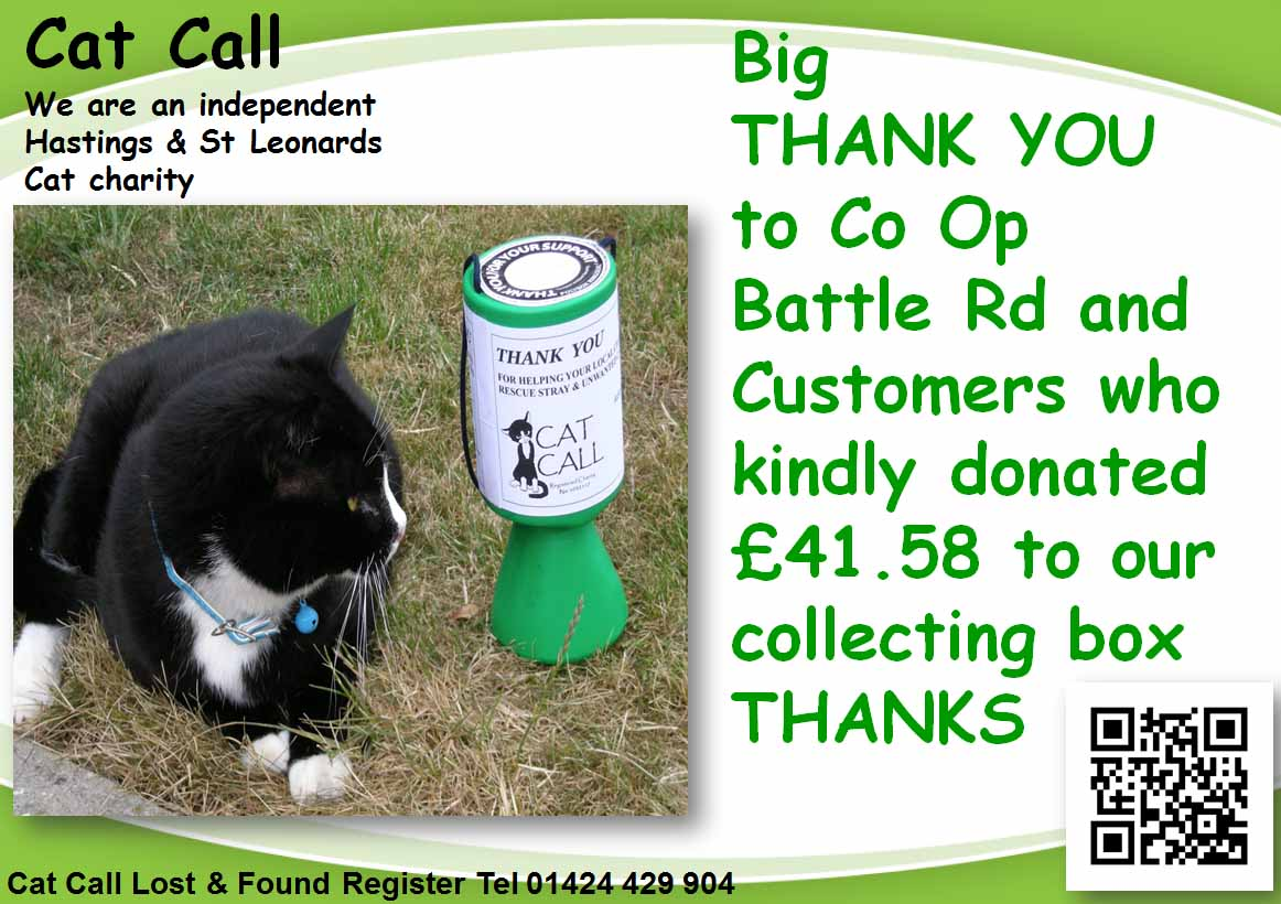 Thank you Co Op Battle Rd from Cat Call