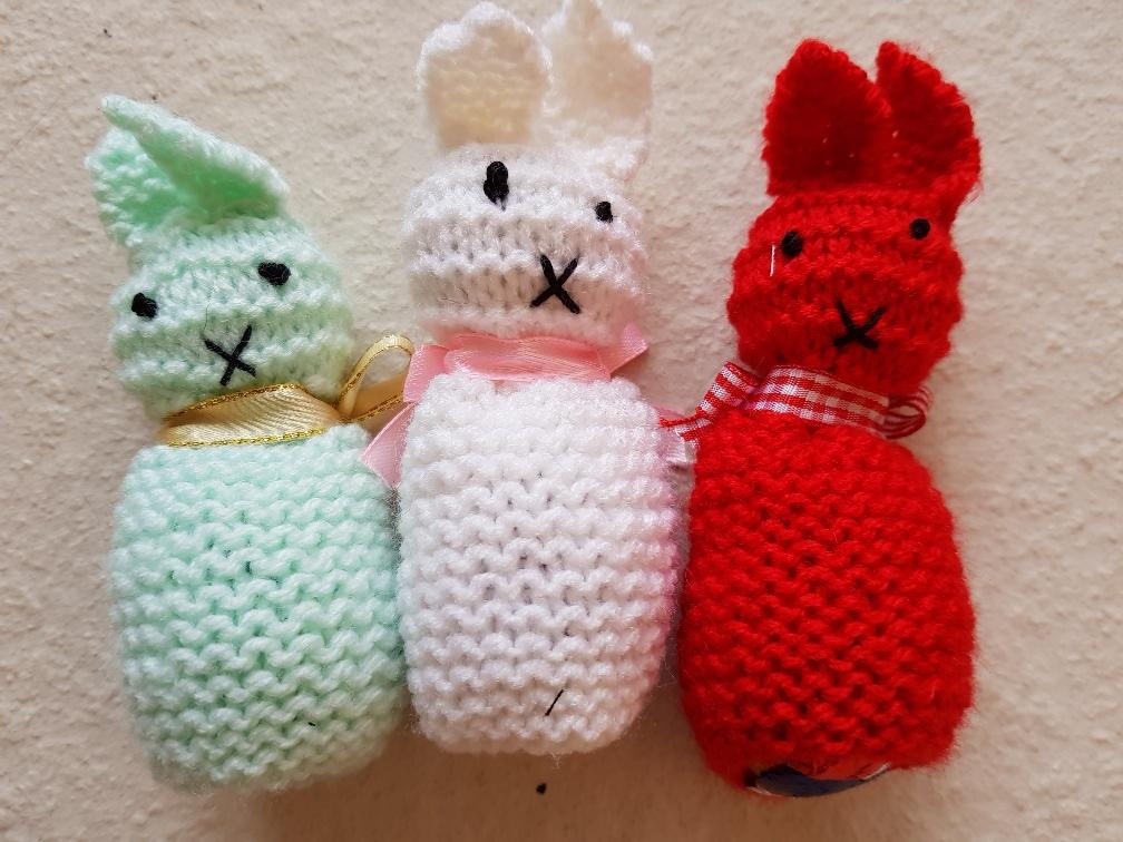 Cat Call Easter egg bunnies