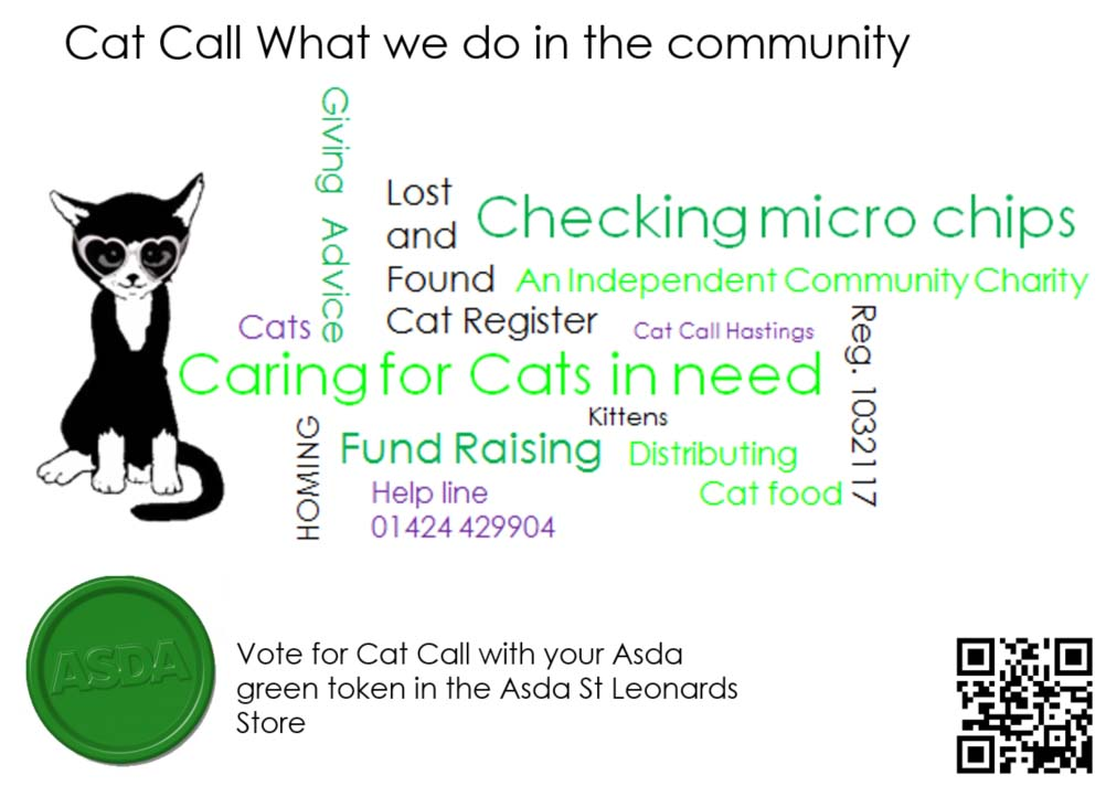 Vote for Cat Call charity with your Asda green token