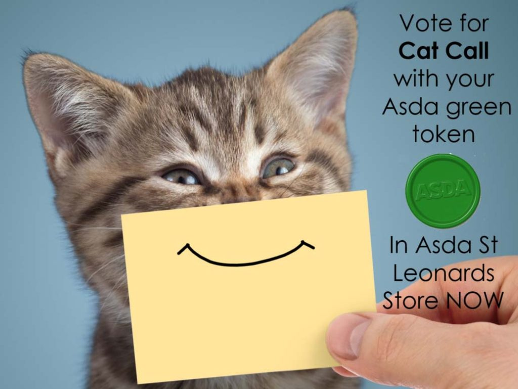 Vote for Cat Call with your Asda green token