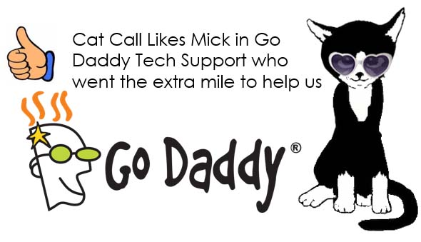 Cat Call Like Go Daddys Mick in Tech support