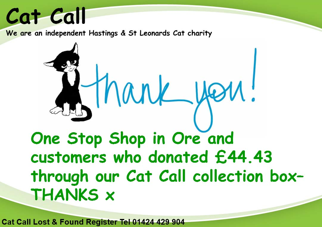 Thank you One Stop Shop Ore