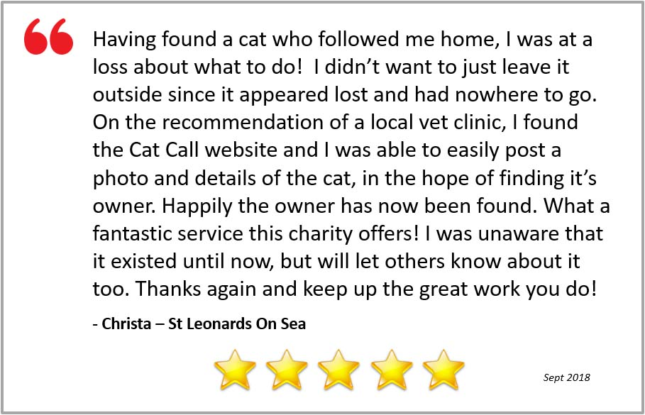 5 star review for Cat Call from Christa