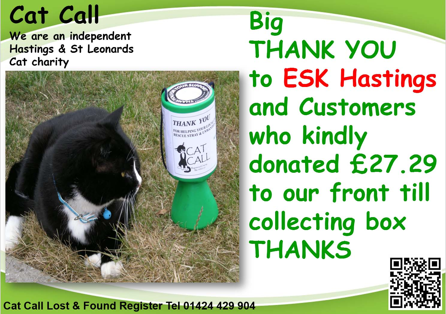 Thank you ESK Hastings