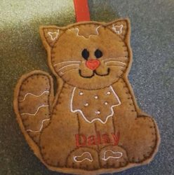 Ginger bread Cat hangers