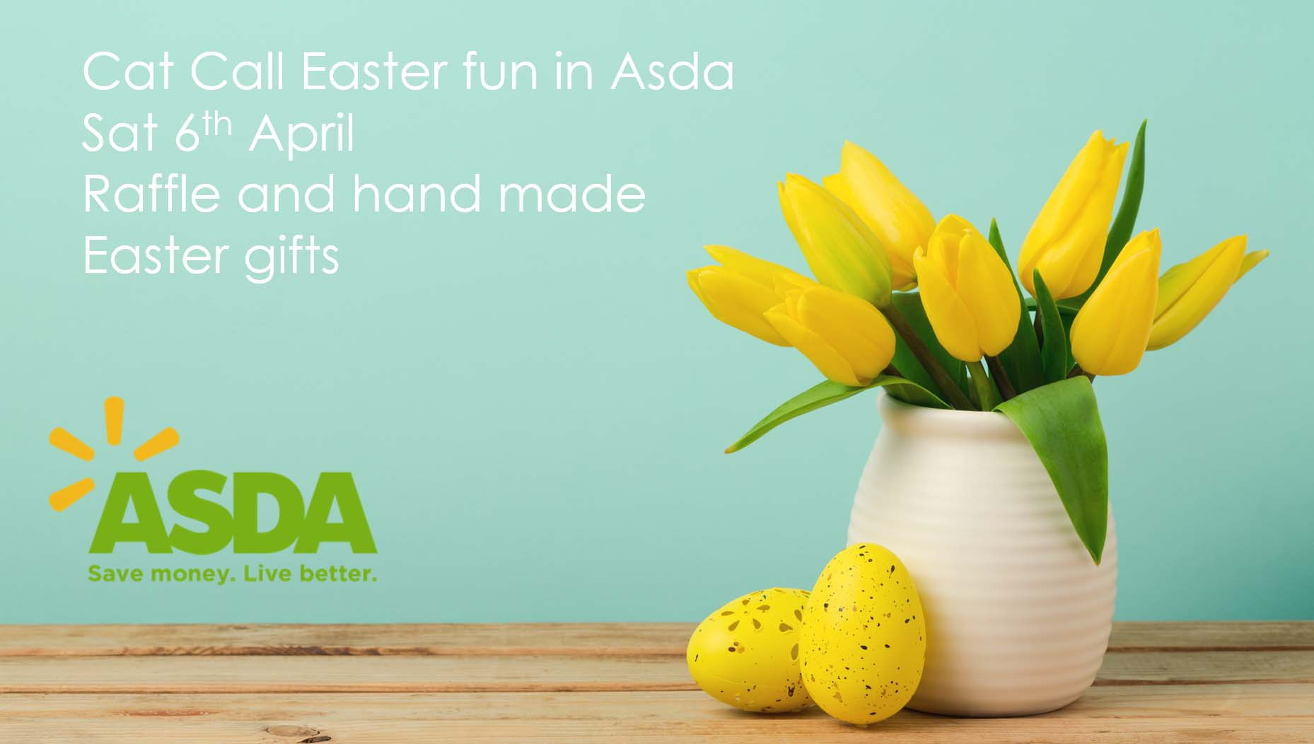 Cat Call Easter fun in Asda Sat 6th April
