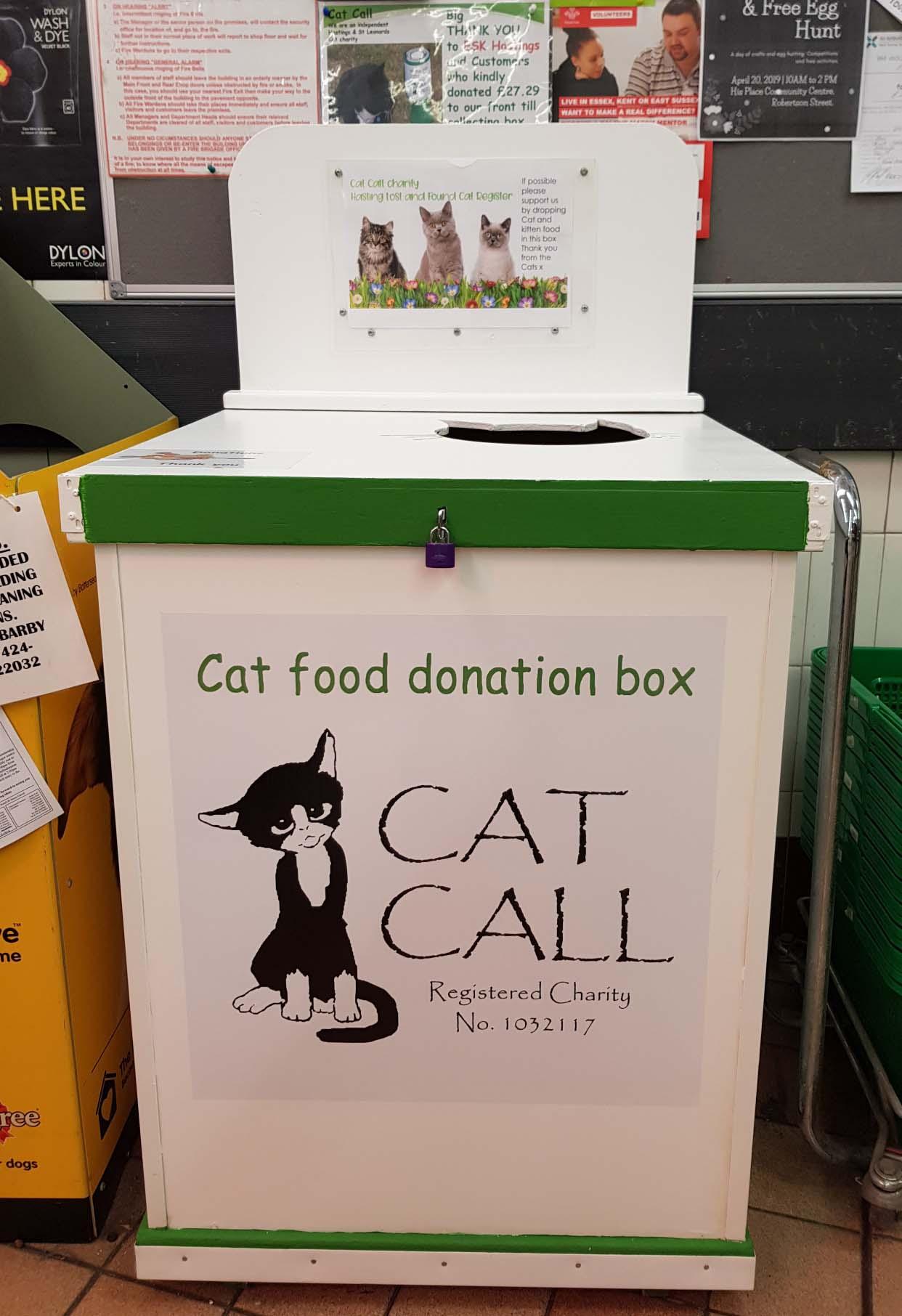 Cat Call Food Donation Box ESK Hastings