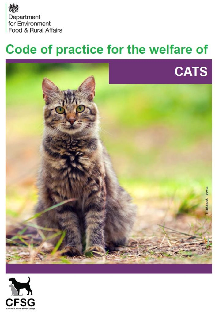 Code of practice welfare of Cats