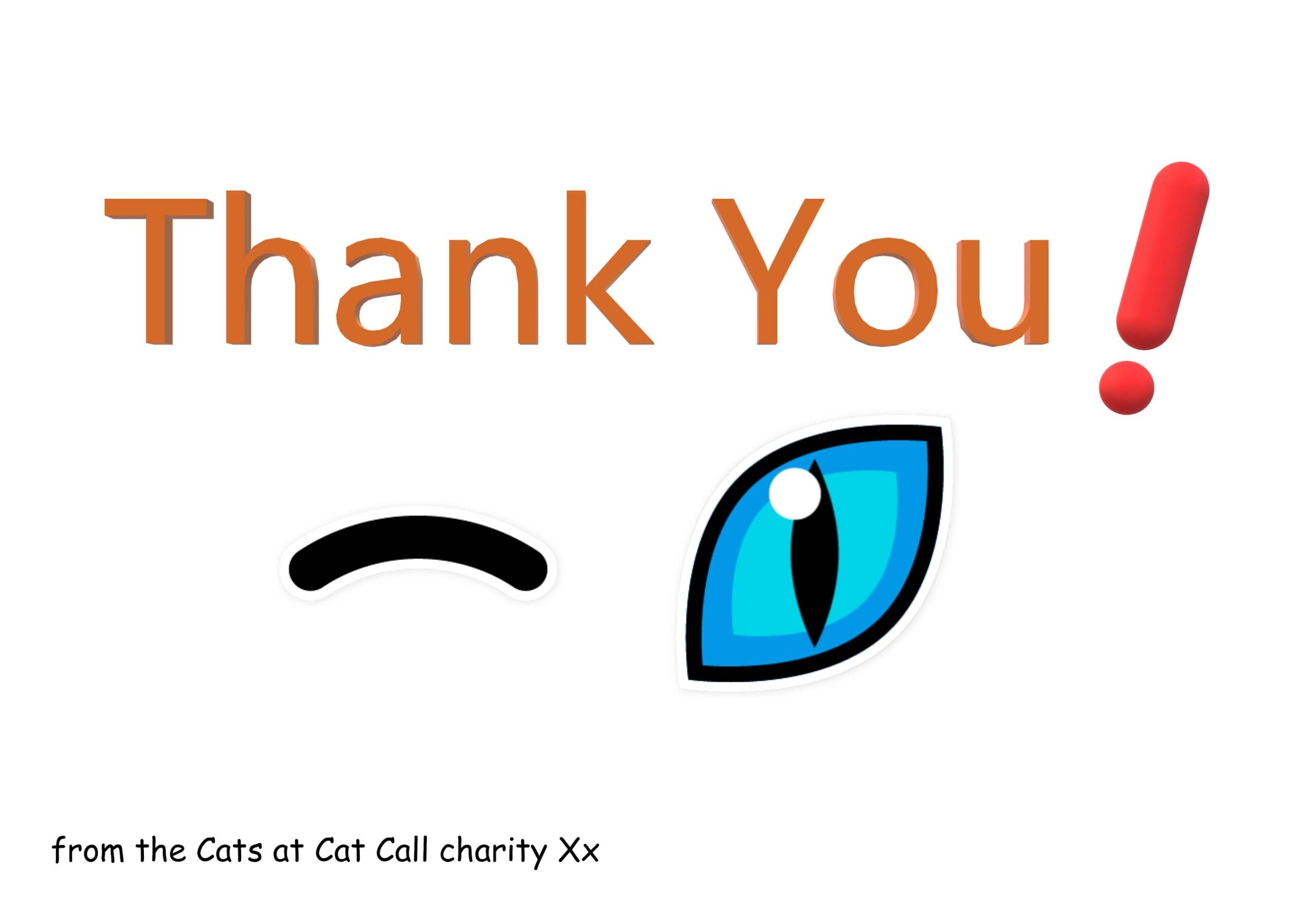 Thank you from Cat Call Hastings x