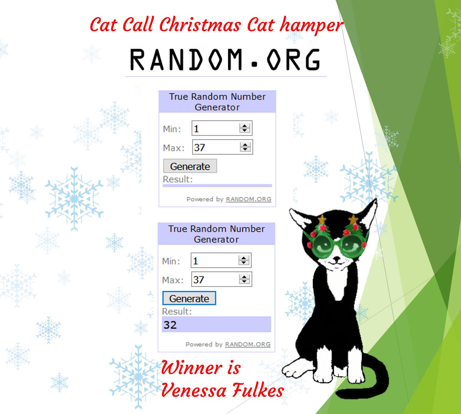 Christmas hamper winner