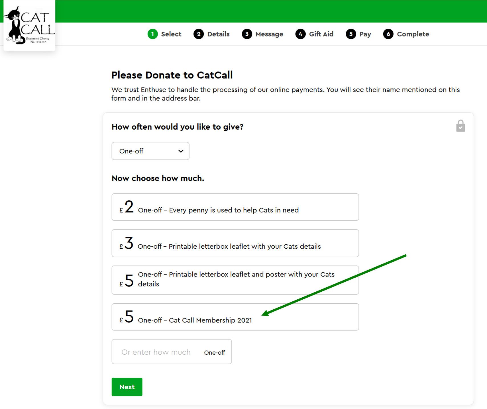 Select Cat Call Membership 2021