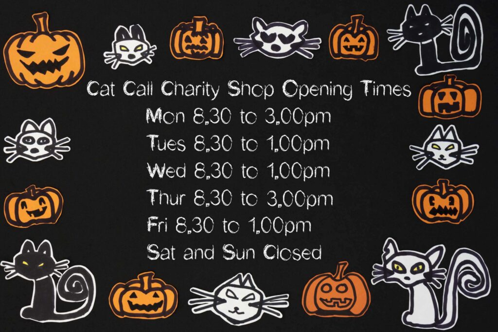 Cat Call Charity Shop Opening Times